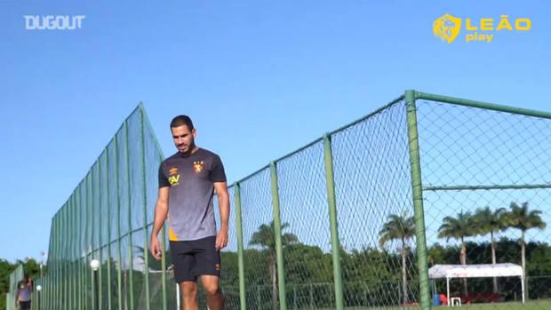 Sport Recife's last training session before Confiança clash