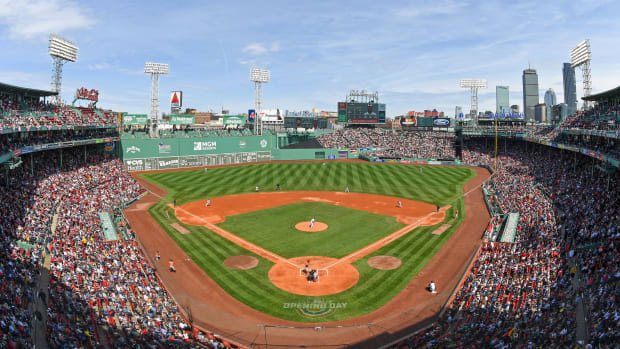 General view of Fenway Park