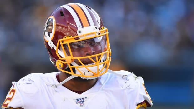 Dec 1, 2019; Charlotte, NC, USA; Washington Redskins linebacker Ryan Anderson (52) on the field in the third quarter at Bank of America Stadium.