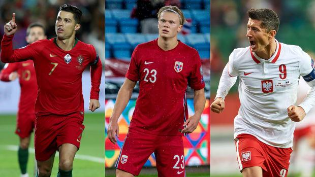 Cristiano Ronaldo, Erling Haaland and Robert Lewandowski begin World Cup qualifying