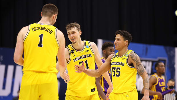 Michigan's Franz Wagner and Eli Brooks