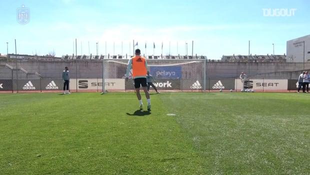 Spain's penalty practice