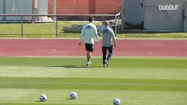 Gerard Moreno trains individually