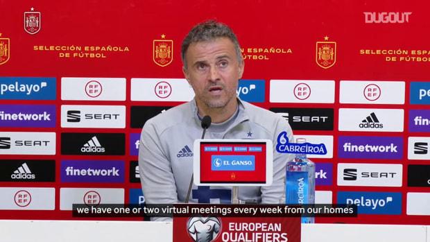 Luis Enrique describes the work of his coaching staff between international fixtures