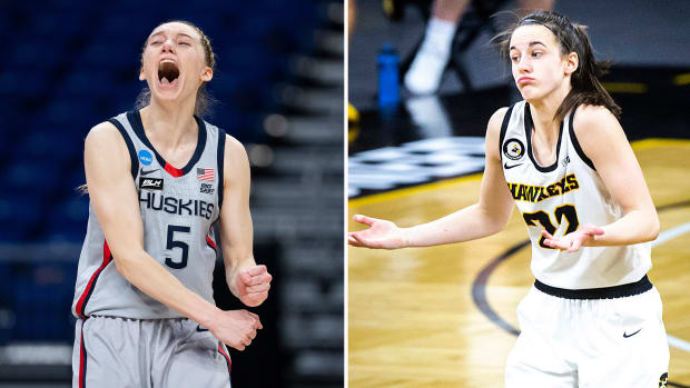 UConn's Paige Bueckers and Iowa's Caitlin Clark