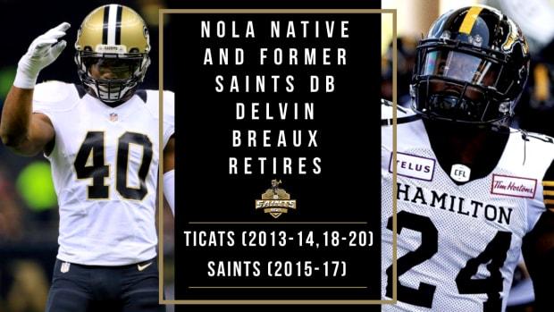 Delvin Breaux Retires