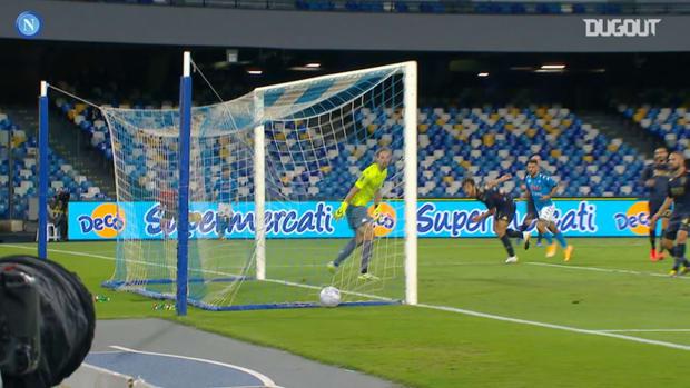 Di Lorenzo's goal and assists in the 20-21 Serie A season so far