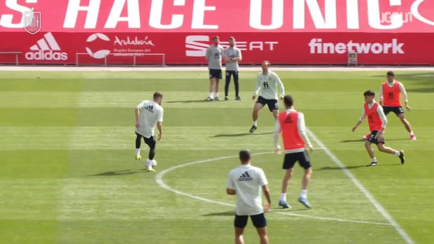 Spain's game in training