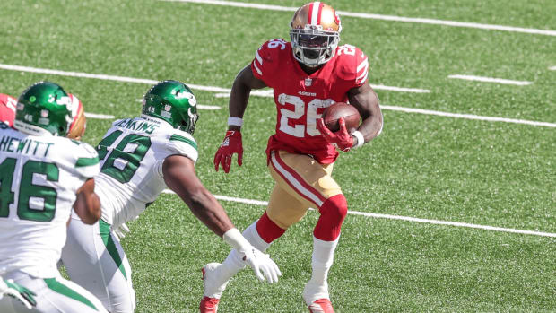 49ers RB Tevin Coleman against Jets