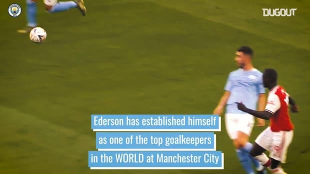 Ederson's incredible passing range