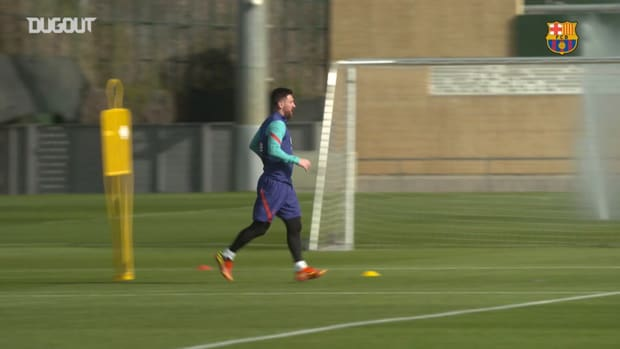 Barcelona's first session of the week