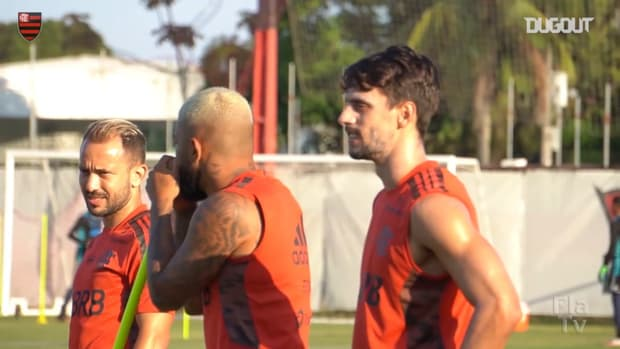 Flamengo players are back to training centre