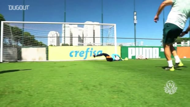 Palmeiras' training and tests the ball of the Recopa Sul-Americana