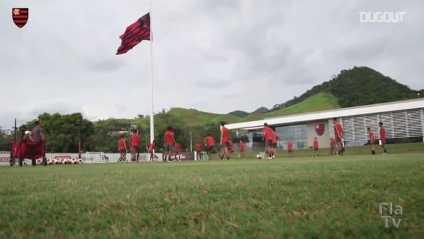 Flamengo's last training session before Bangu clash
