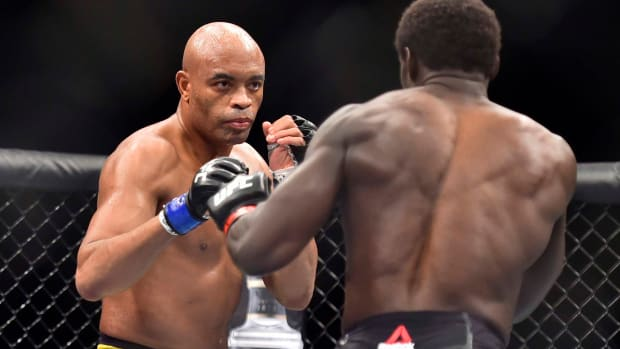 Anderson Silva in the ring.