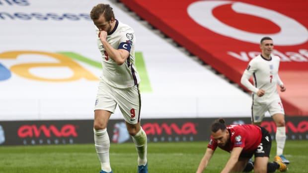 Harry Kane against Albania