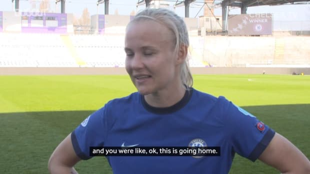 Harder reacts to Chelsea making Women's Champions League semi-final