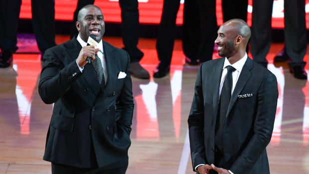 Magic Johnson took to social media to pay tribute to Kobe Bryant.