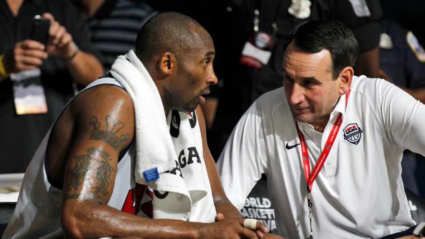 Coach Mike Krzyzewski paid tribute to Kobe Bryant.