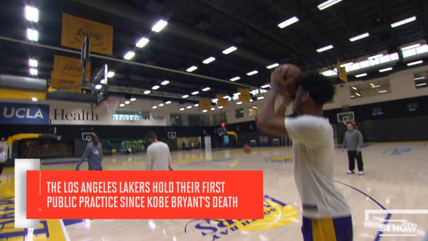 The Los Angeles Lakers Hold Their First Public Practice Since Kobe Bryant's Death