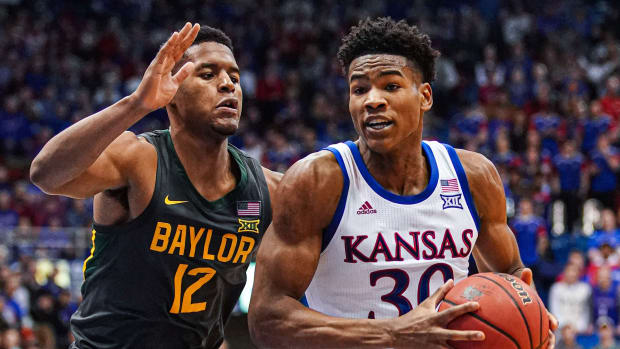 College basketball rankings Kansas vs Baylor NCAA Big 12 schedule