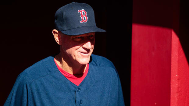Boston Red Sox bench coach Ron Roenicke against the Arizona Diamondbacks during the home opener at Chase Field.