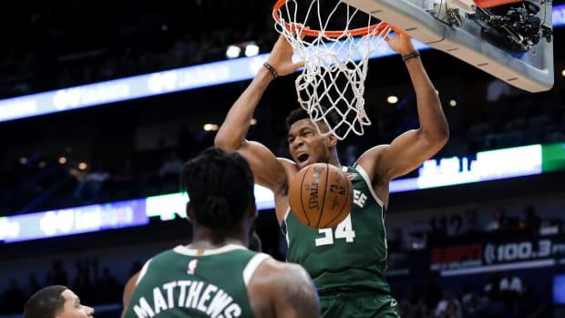 NBA DFS Giannis Antetokounmpo