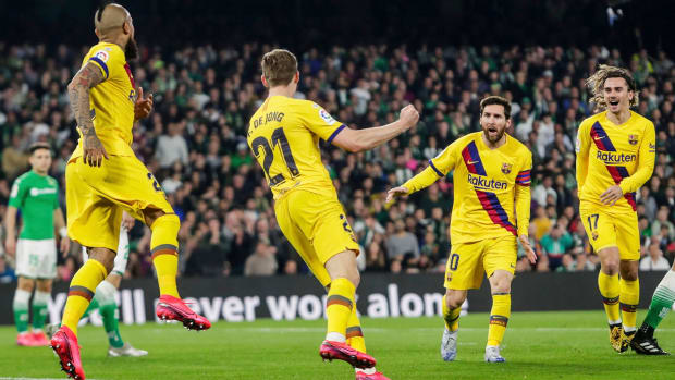 Lionel Messi assists on three goals vs Real Betis