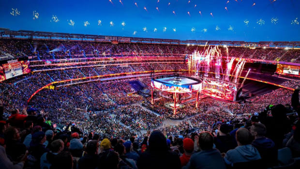 View from the top row of MetLife Stadium during WrestleMania 35