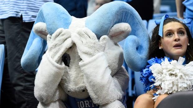 College basketball Duke vs UNC mascot