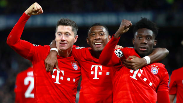 Bayern Munich is in first place in the Bundesliga