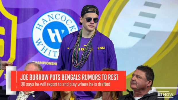 Joe Burrow Says He'll Play For The Bengals If They Draft Him