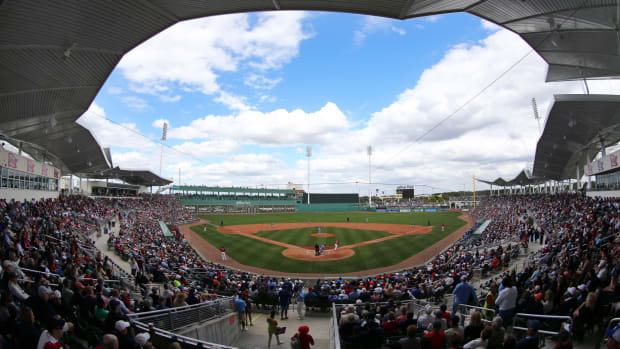 A general view of JetBlue Park as the Boston Red Sox play the Tampa Bay Rays