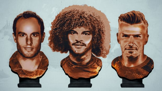 MLS greats Landon Donovan, Carlos Valderrama and David Beckham