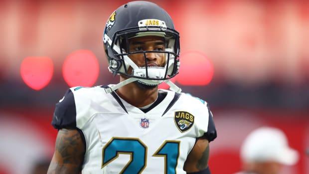 Jacksonville Jaguars cornerback A.J. Bouye (21) against the Arizona Cardinals at University of Phoenix Stadium.