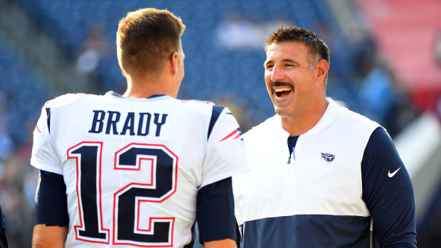 Tom Brady and Mike Vrabel, Brady to Titans rumors