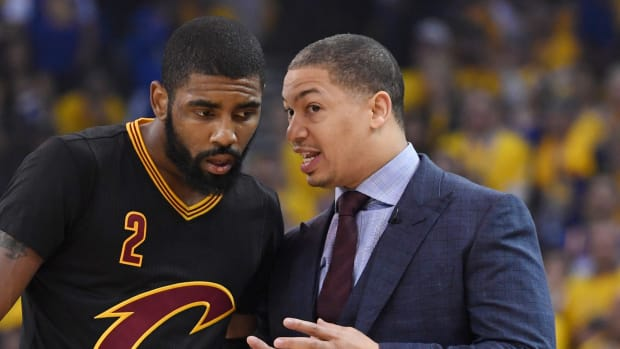 Kyrie Irving reportedly prefers Tyronn Lue as the Nets' next head coach.
