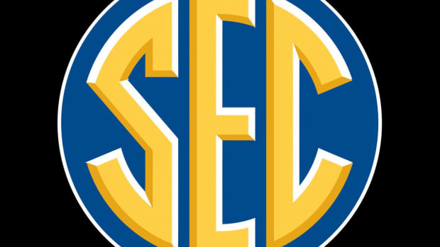 SEC logo, black background