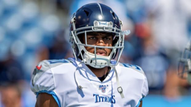 Cornerback Chris Milton during a 2019 game with the Tennessee Titans.