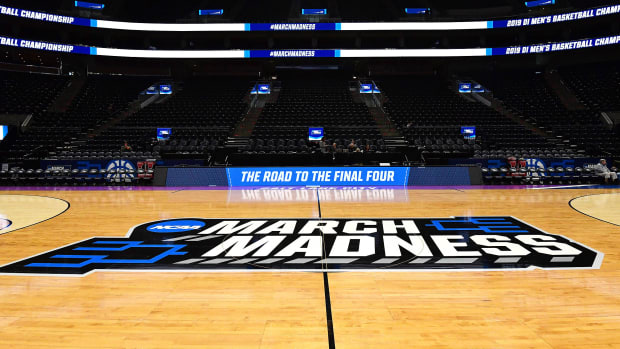 March Madness empty stadium