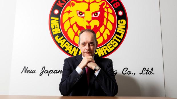 Portrait of New Japan Pro Wrestling president Harold Meij