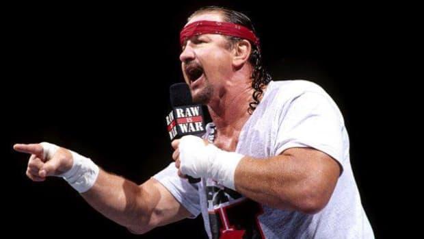Terry Funk cuts a promo on WWE Raw
