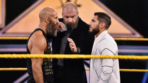 WWE's Tommaso Ciampa and Johnny Gargano square off in the ring on NXT