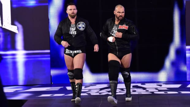 WWE's Scott Dawson and Dash Wilder (The Revival) make their entrance on SmackDown