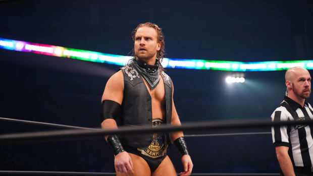AEW's Adam 'Hangman' Page in the ring on Dynamite
