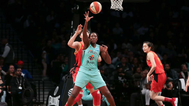 Tina Charles of the Liberty has been traded to the Mystics in a three-team deal.