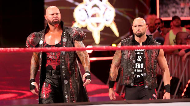 WWE's Luke Gallows and Karl Anderson make their entrance on Raw