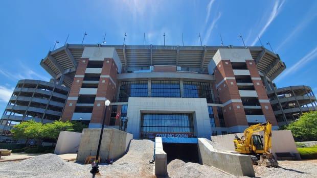 Bryant-Denny Stadium construction, April 18, 2020