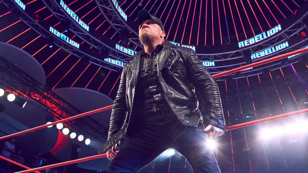 Impact Wrestling's Sami Callihan makes his entrance to the ring