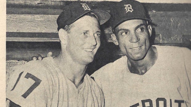 Frank Lary with teammate and fellow Alabaman Billy Bruton.